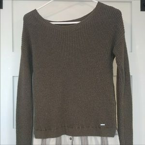 Women's Hollister Sweater w/ flannel Size XS